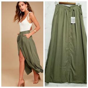 New PISTOLA Revolve Maxi Skirt
